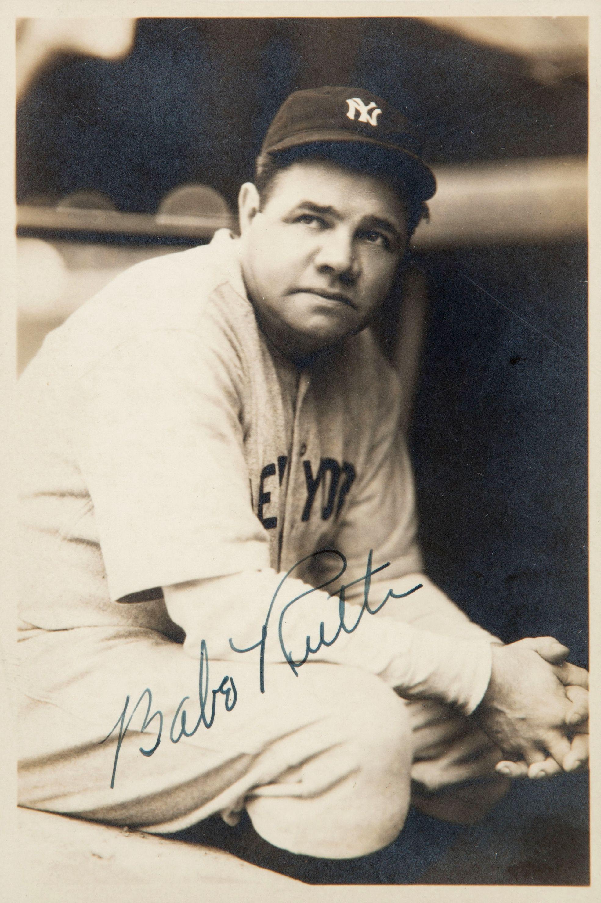 1930 S Babe Ruth Signed Photograph By George Burke Baseball Classic Babe Ruth Baseball Memorabilia