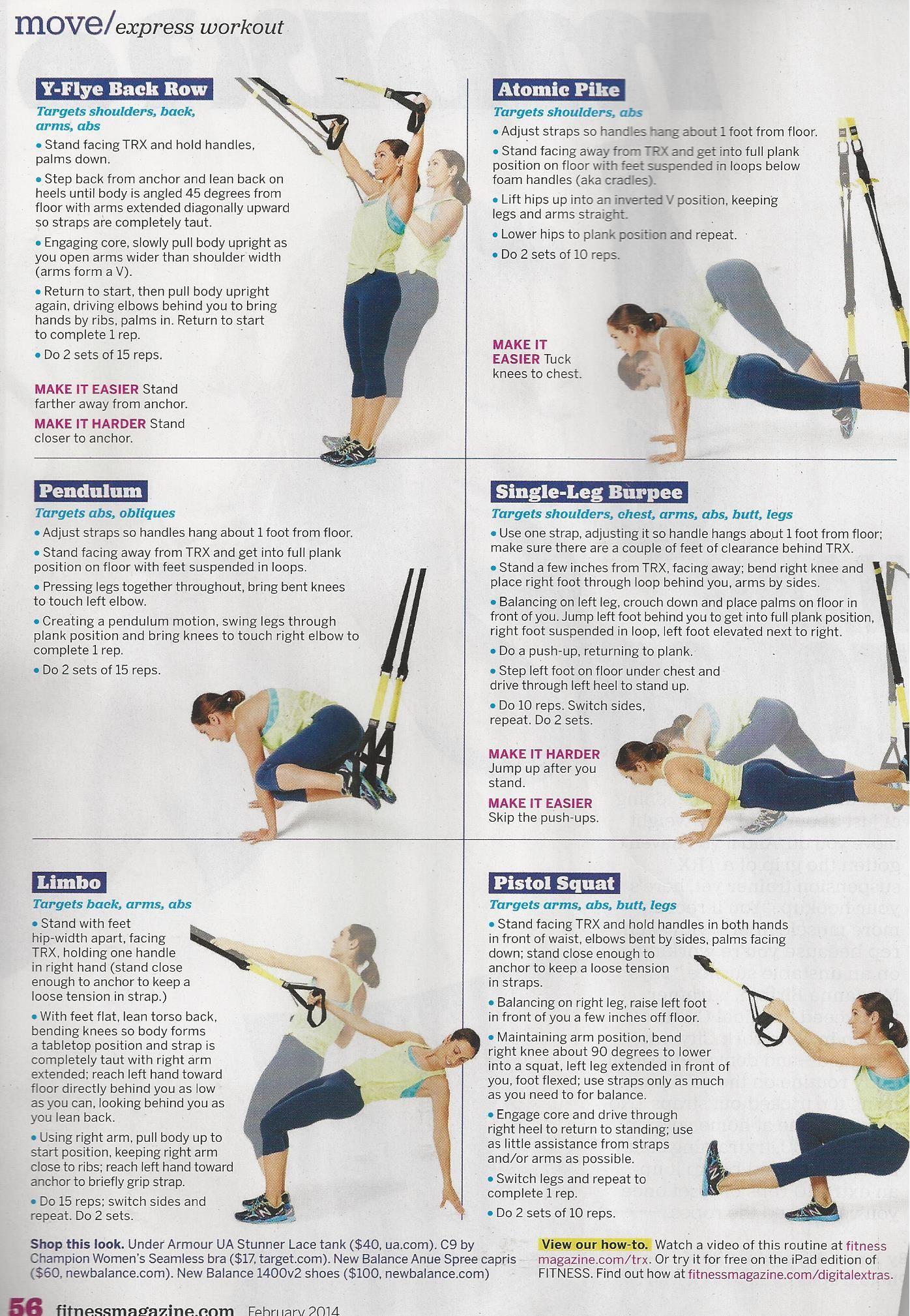 Trx workouts pdf new workout sets pinterest
