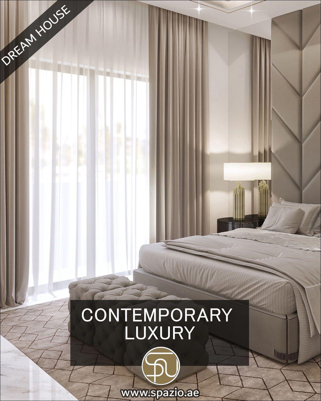 Beautiful modern large bedroom design video from Spazio Dubai in
