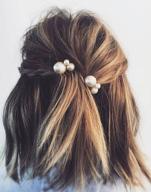 Ever Cute Shoulder Length Prom Hairstyles 2018 With Little Braids Fashion Knots Hair Styles Long Hair Styles Short Hair Styles