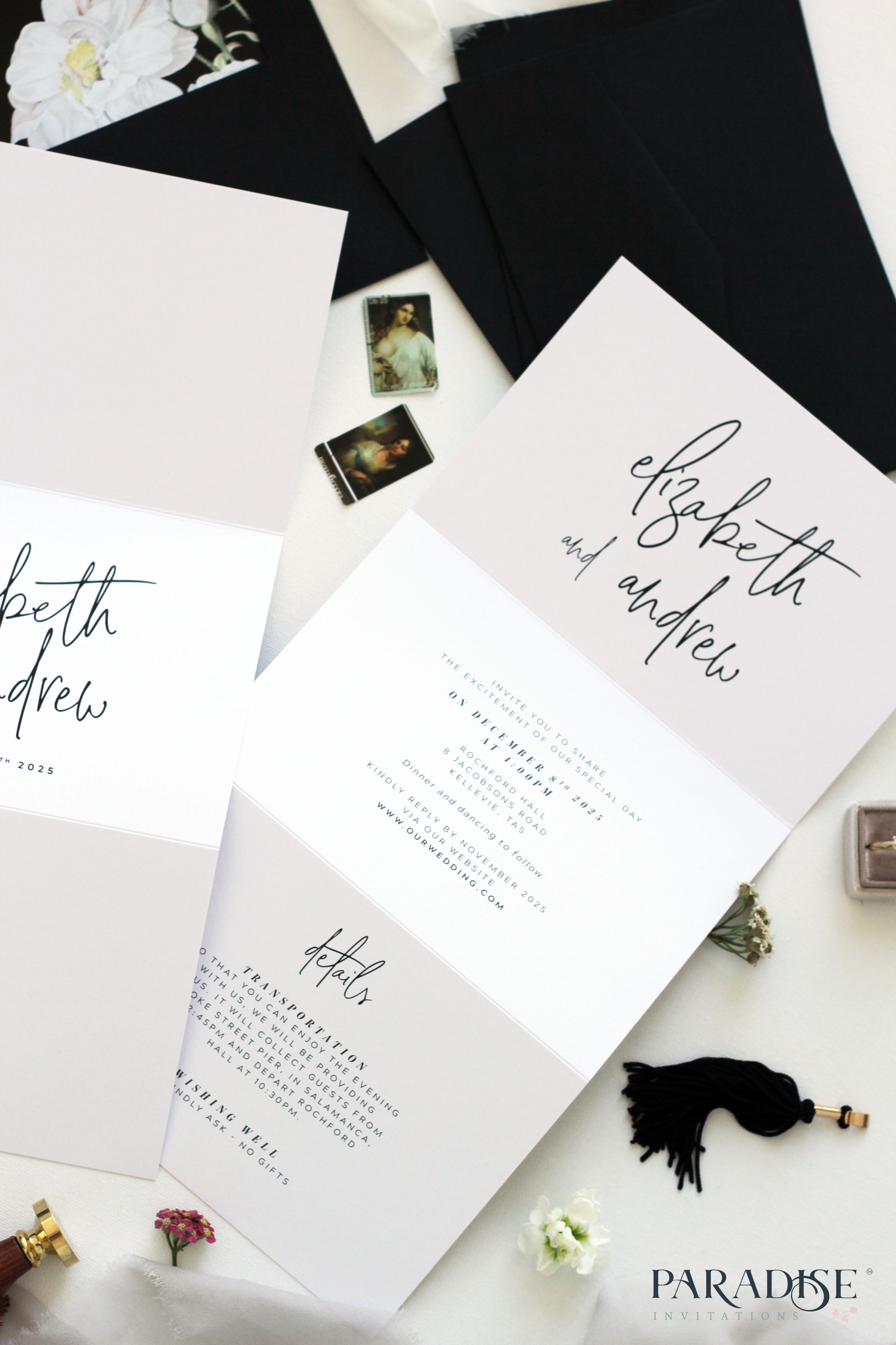 Fantine Protea Flower Tri Fold Wedding Invitation Wedding Invitation We Tri Fold Wedding Invitations Folded Wedding Invitation Wedding Invitations Australia