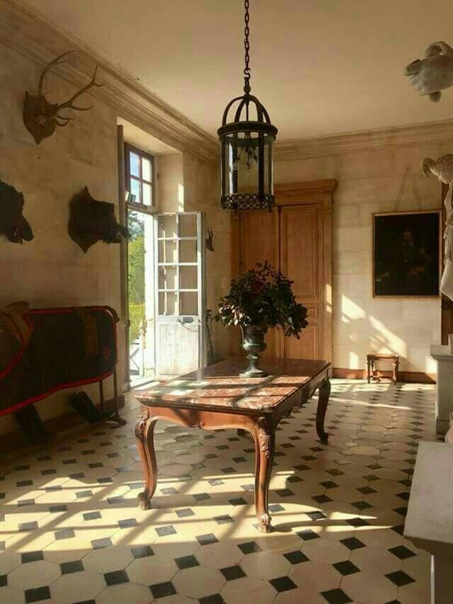 Divina mesa de madera y mármol. Mesas de madera, Casas