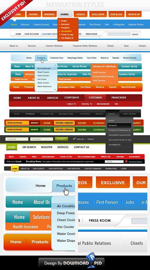 Free Custom Navigation Menu By Amandhingra On Deviantart Website Menu Design Menu Design Template Website Menu