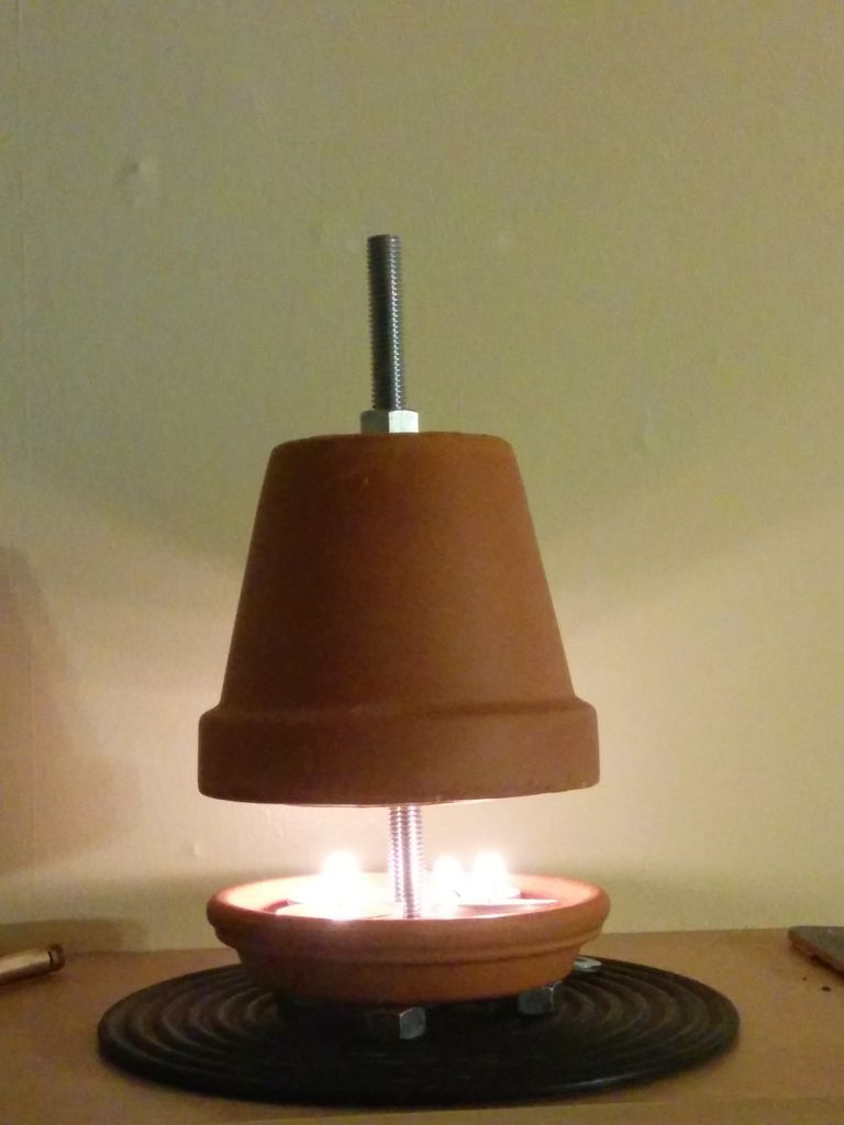 Terracotta Plant Pot Candle Heater Crafts Candle