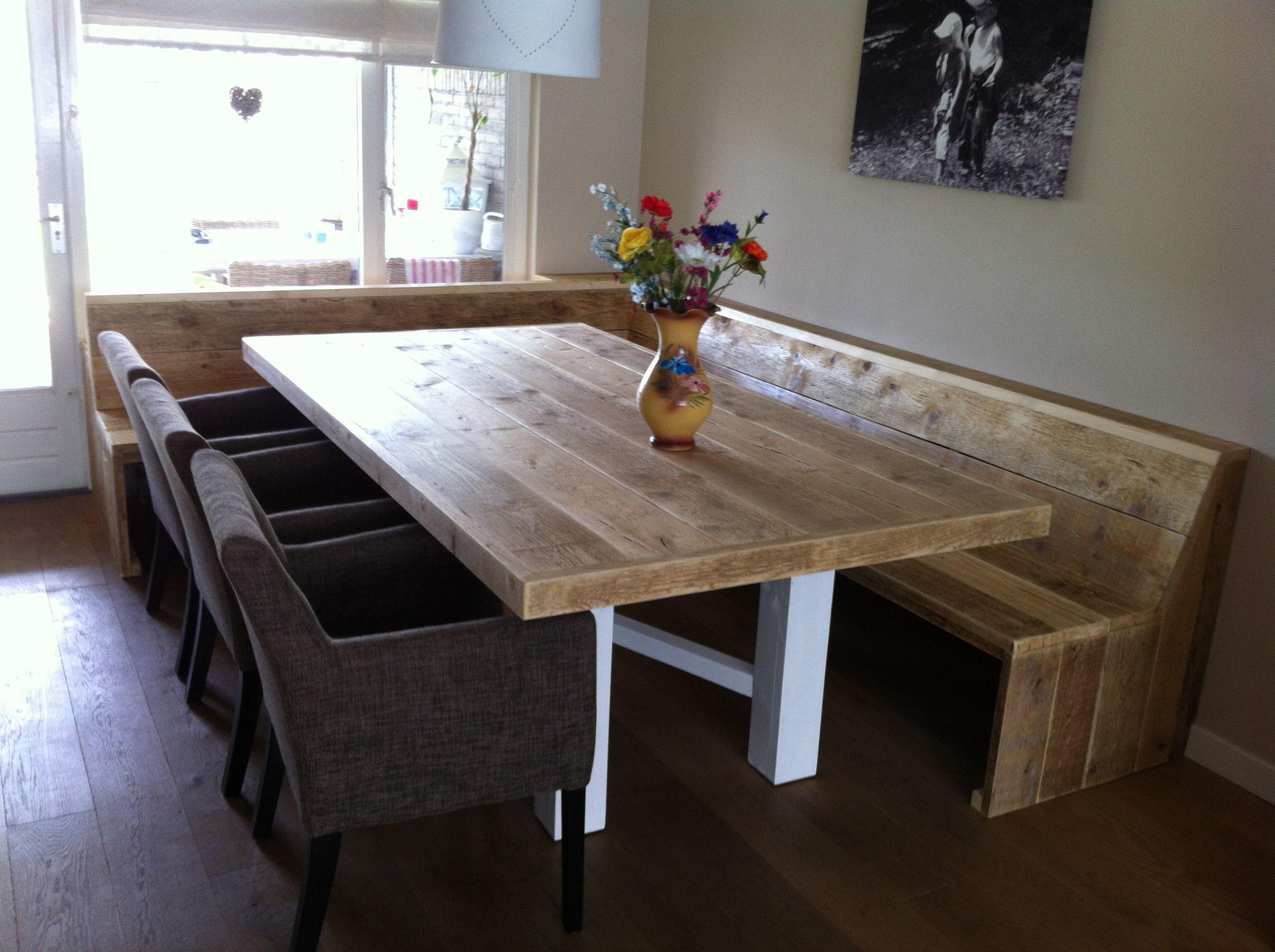 Oostenrijkse eethoek steigerhout oostenrijkse eethoek for Steigerhouten eettafel bank