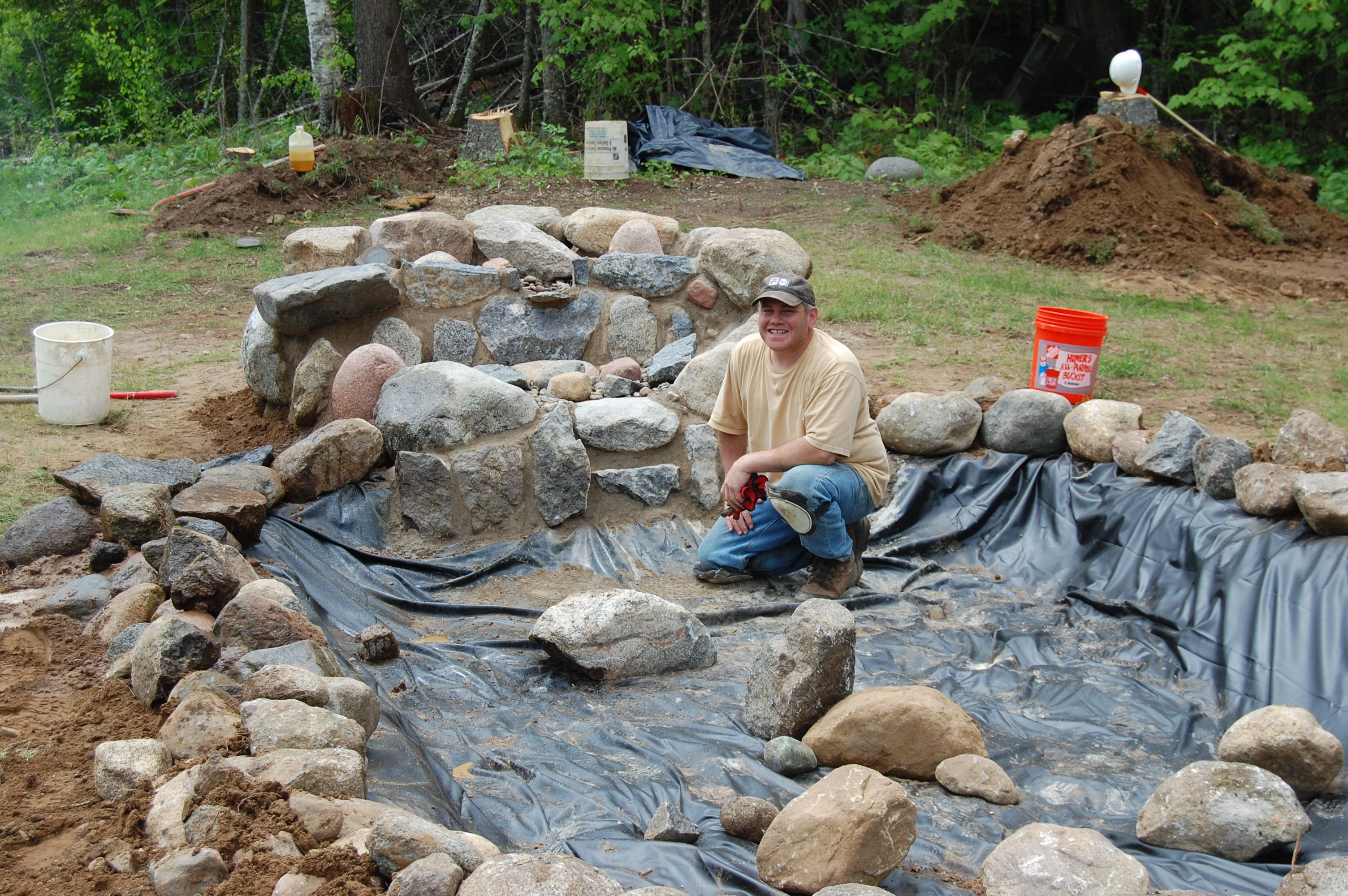 Forming A Wall On The Backside Of The Pond Need To Do 400 x 300
