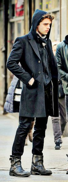 Sebastian Stan || His style is so fucking perfect like God bless America and Romania