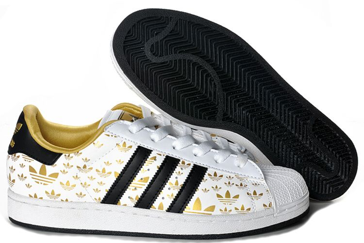 new styles de61b 2a472 New New Adidas Originals Superstar 2 White Logo Gold Womens Shoes Print for  Sale, Get Cheap Adidas Superstar Trainers Mens