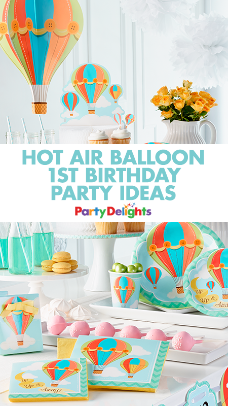 Hot Air Balloon 1st Birthday Party Ideas