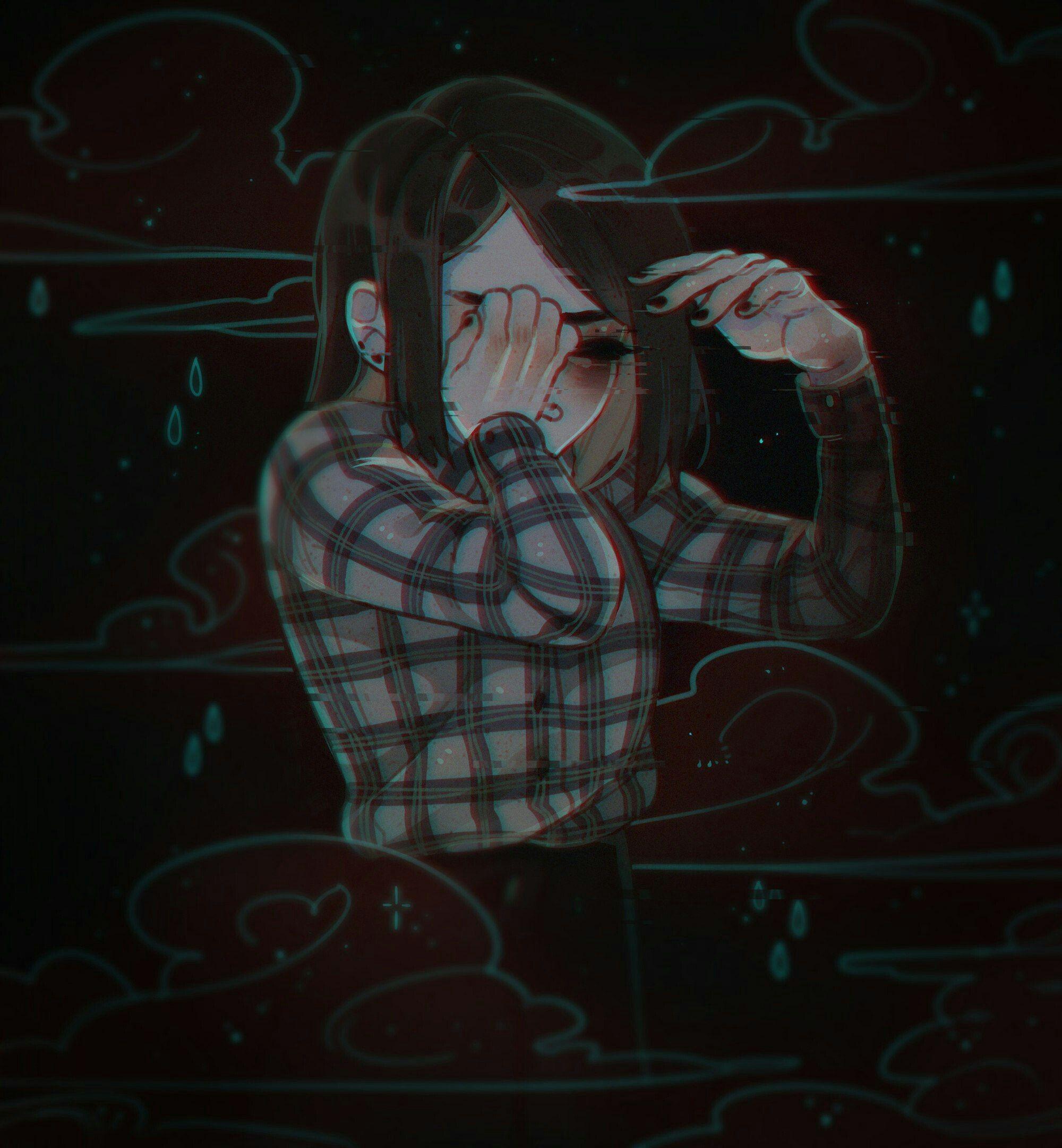 Sad Anime Aesthetic Girl