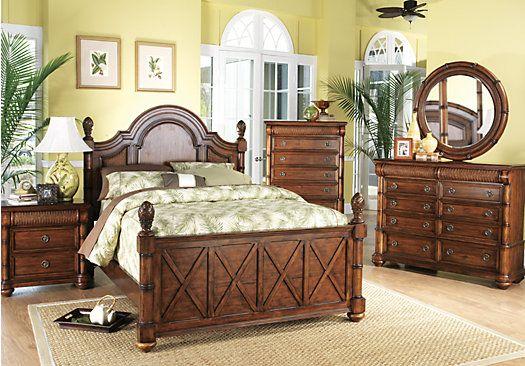 dark pine panel 7 pc queen bedroom at rooms to go find bedroom sets