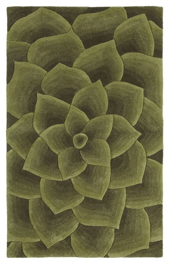 Cenon Floral Transitions Rug Contemporary Rugs Green Rug Flower Rug Rugs On Carpet