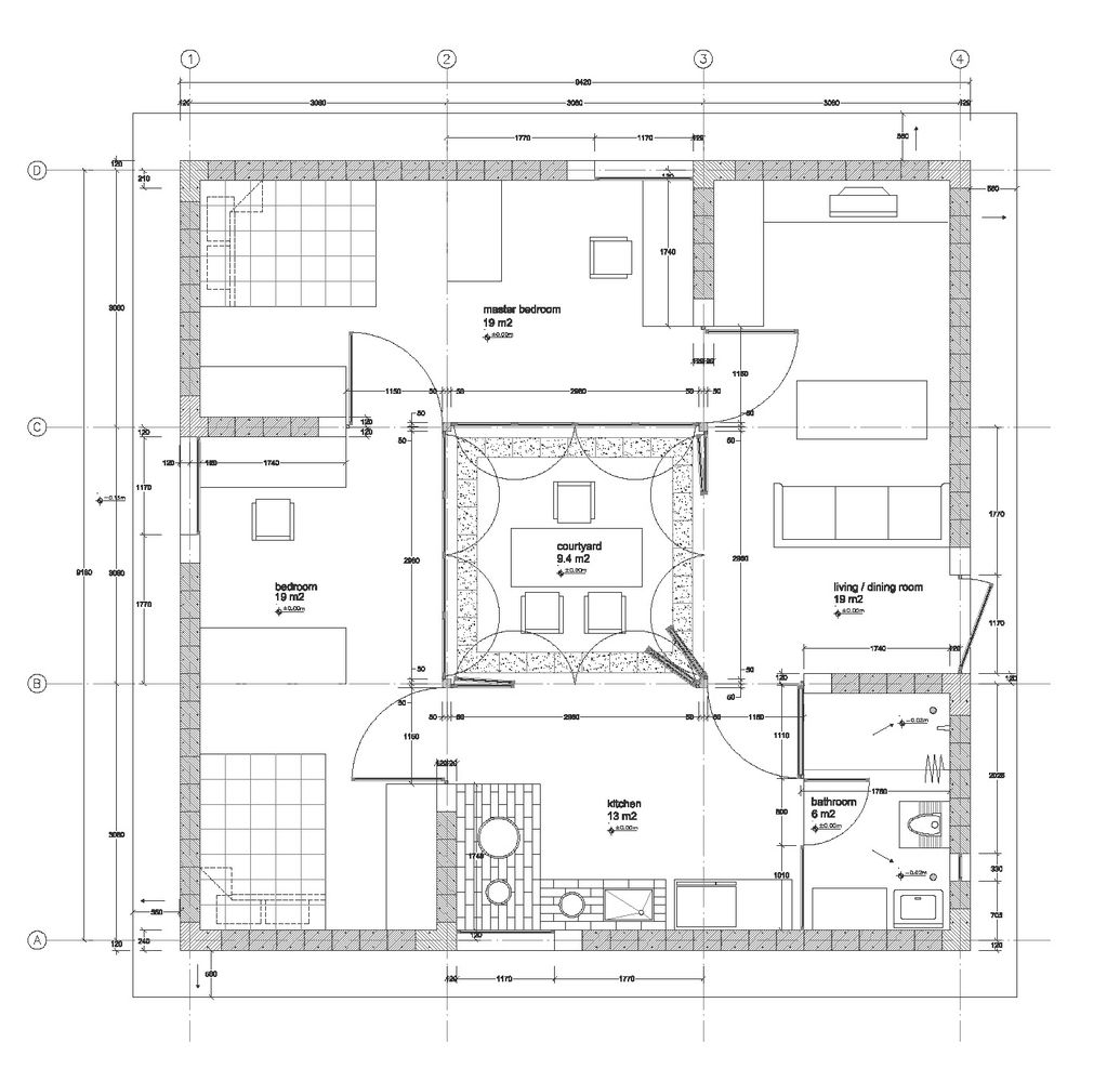 Pyramid House Plans Gallery Of 1k House Pinwheel House Ying Chee Chui 8 House