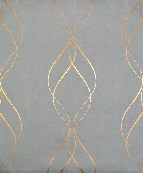 York Wallcoverings Nw3551 Modern Metals Aurora Wallpaper