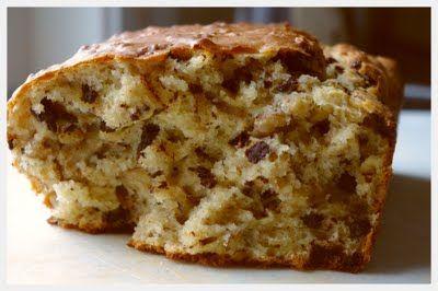 Spiseskje: Banankake med sjokoladebiter: glutenfri
