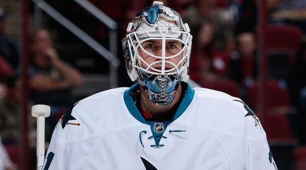 Not gonna lie he looks good in that color. :((  Martin Jones. San Jose Sharks.