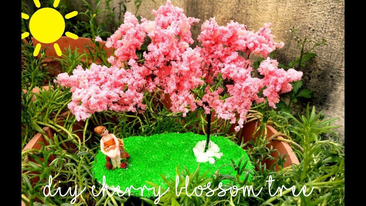 4 49 How To Do A Miniature Cherry Blossom Tree Diy With 3 Simple Materials Blossom Trees Cherry Blossom Tree Blossom