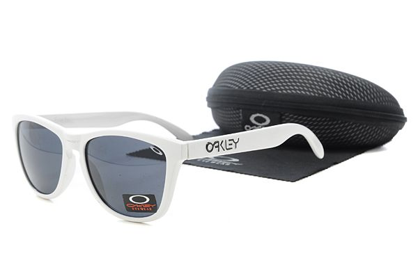 oakley white frame sunglasses  $10.99 New Style Oakley Frogskins Sunglasses White Frame Dark Blue ...
