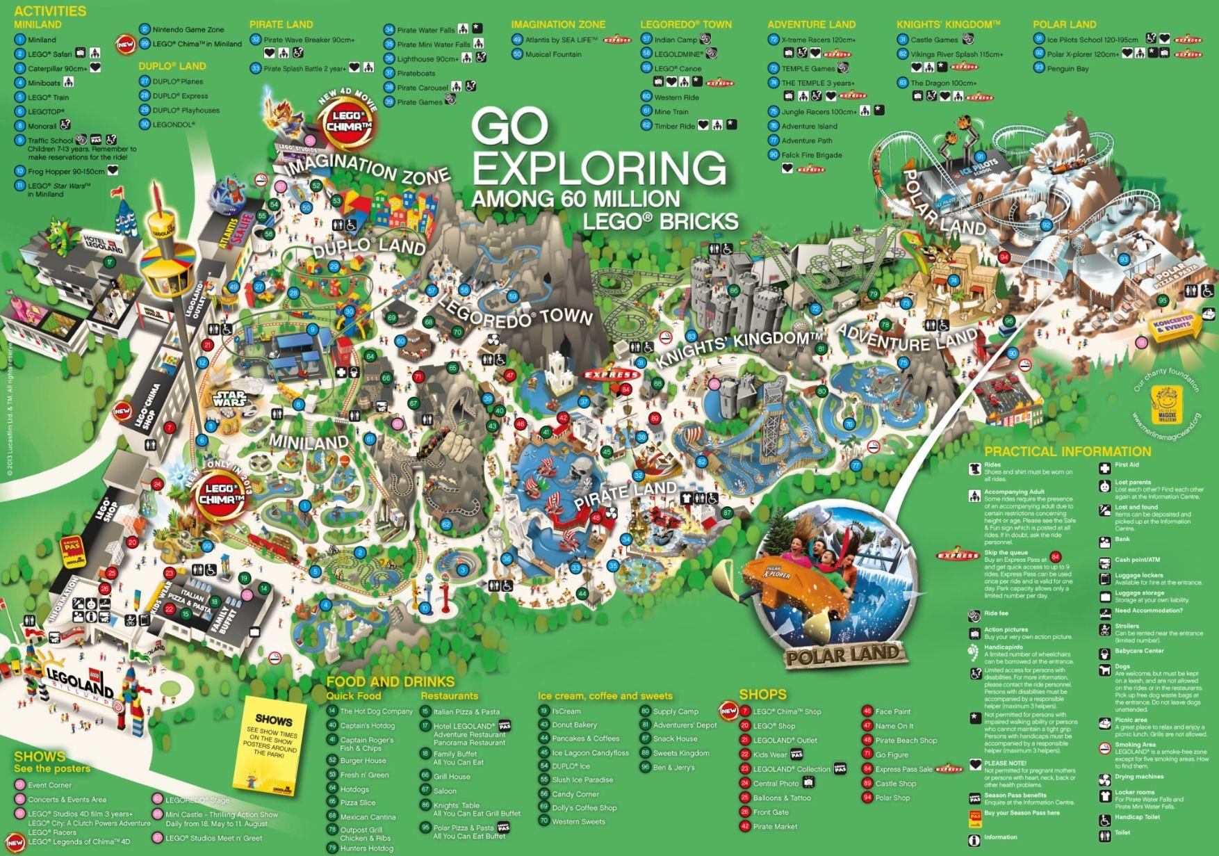 Legoland Map Legoland Denmark Legoland Legoland Park
