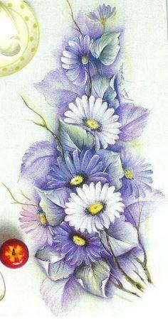 dibujos de flores y frutas para pintar en tela  Buscar con Google