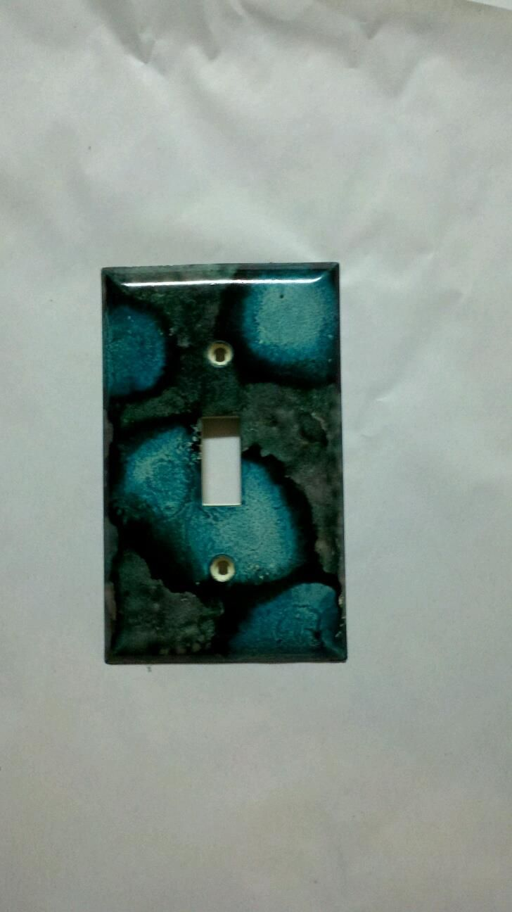 Alcohol Ink Light Switch Cover And You Can Also Color The S To Match With Inks