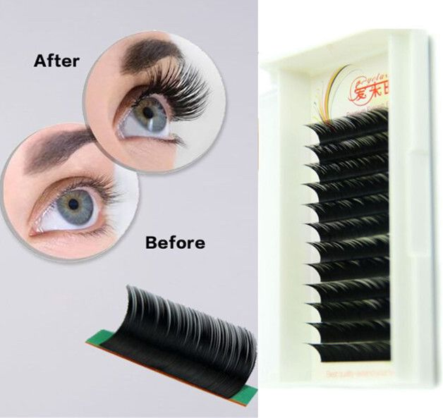 bf98389093f Individual Eyelash Extensions B/C/D Curl Natural Color 0.05mm to 0.25mm  Thickness 8mm 9mm 10mm 11mm 12mm 13mm 14mm 15mm False Eye Lash Long Lash  Free ...