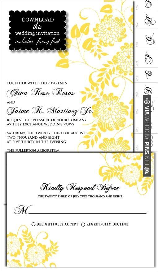 DIY, Do It Yourself, Dahlia Wedding Invitation, Dahlia, invitation - fancy invitation templates
