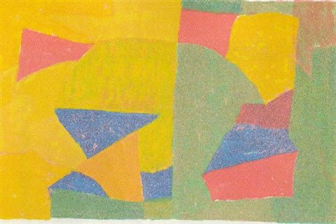 Composition jaune, verte, bleue et rouge by Serge Poliakoff