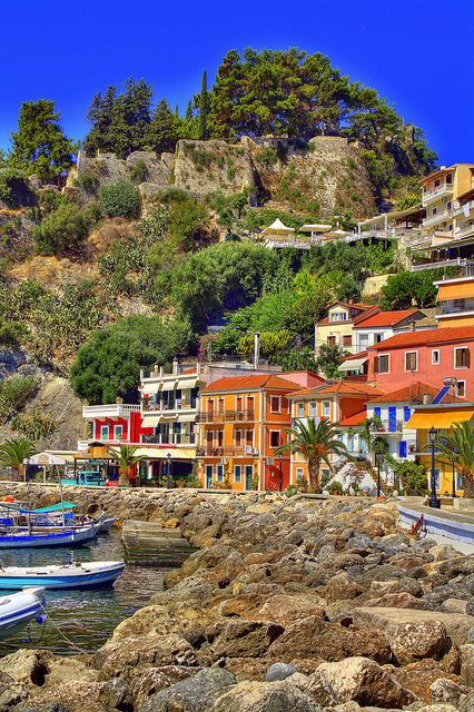 travel to this beautiful place someday... The village of Parga, Greece