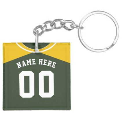 Name & Number Jersey Keyring, Baseball Softball Keychain