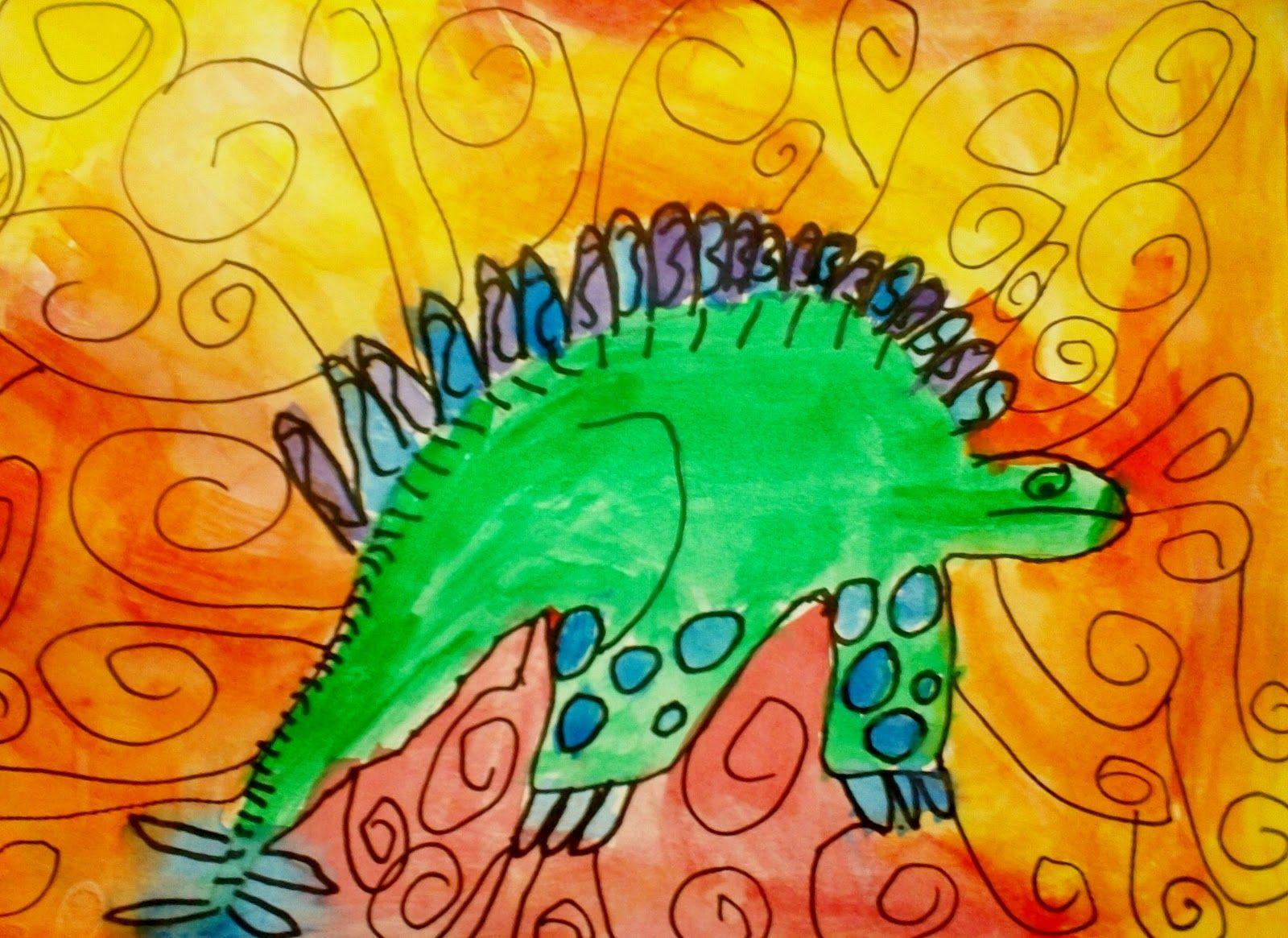 Dino Paintings: 1st Grade | 1st Grade Art | Pinterest