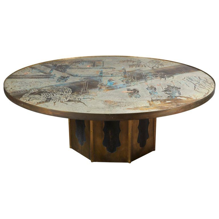 Philip Laverne Coffee Table.Acid Etched And Patinated Bronze Coffee Table By Philip And Kelvin