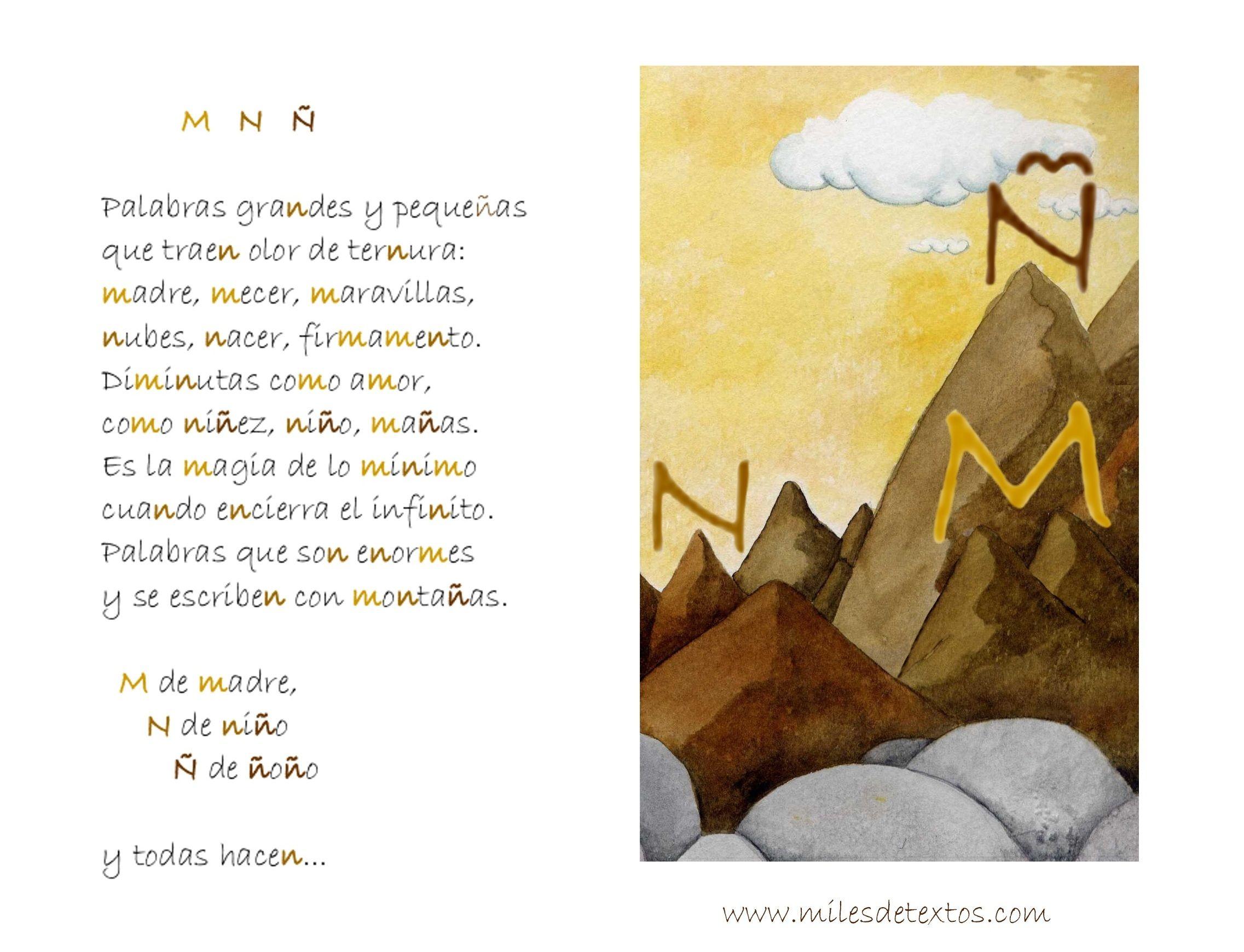 Aprendiendo las letras M, N y Ñ con poesías  www