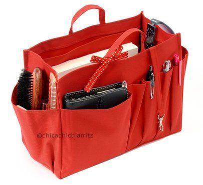 Organizador de bolsos / Organizador para bolsas - Rojo - Tamaño L : 2 mujer