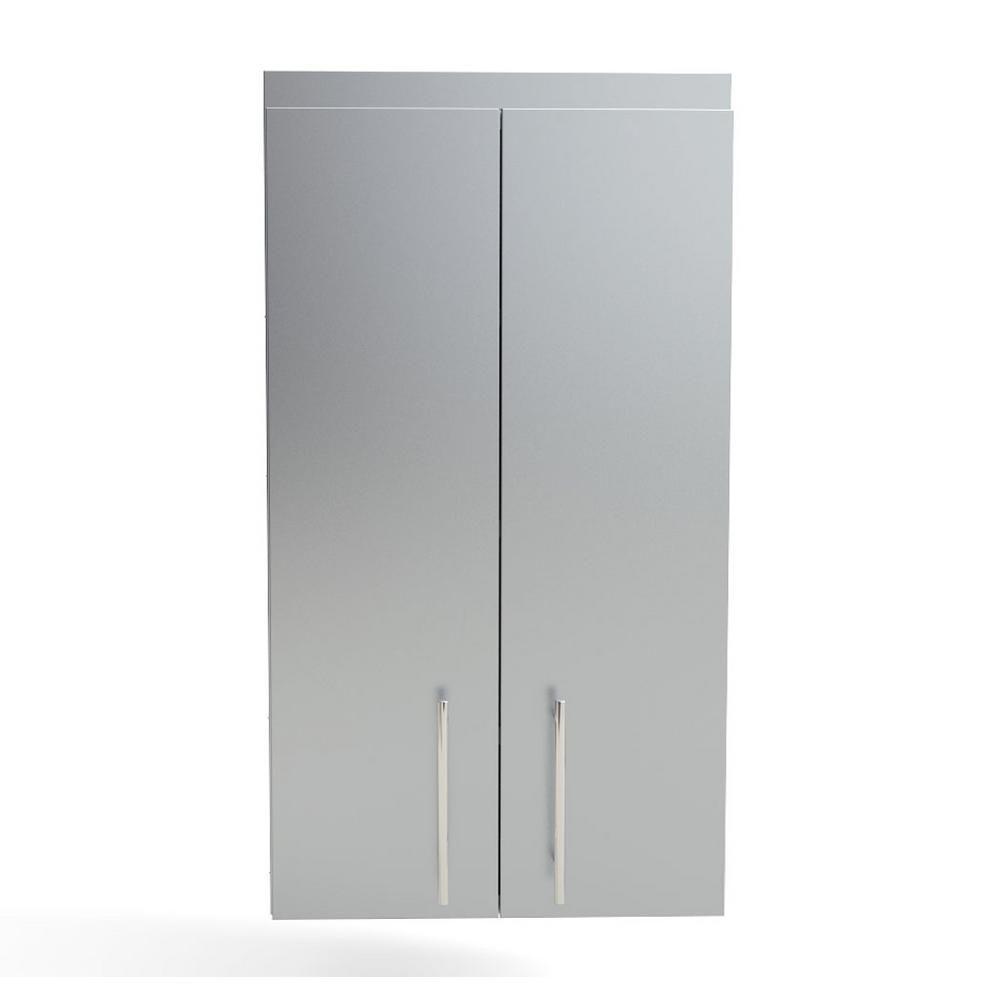Sunstone Stainless Steel 24 In X 42 In X 14 In Outdoor Kitchen Cabinet Full Height Double Door Cabinet With 4 Shelves Outdoor Kitchen Cabinets Stainless Steel Kitchen Cabinets Steel Kitchen Cabinets