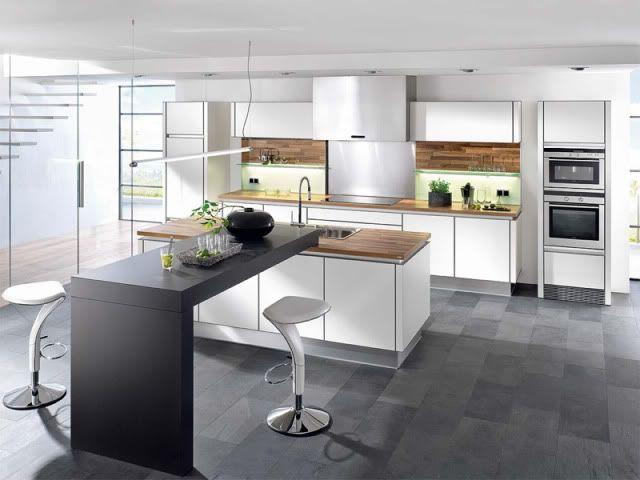 Cuisine avec îlot central  43 idées \ inspirations Kitchens - cuisine avec ilot central et table