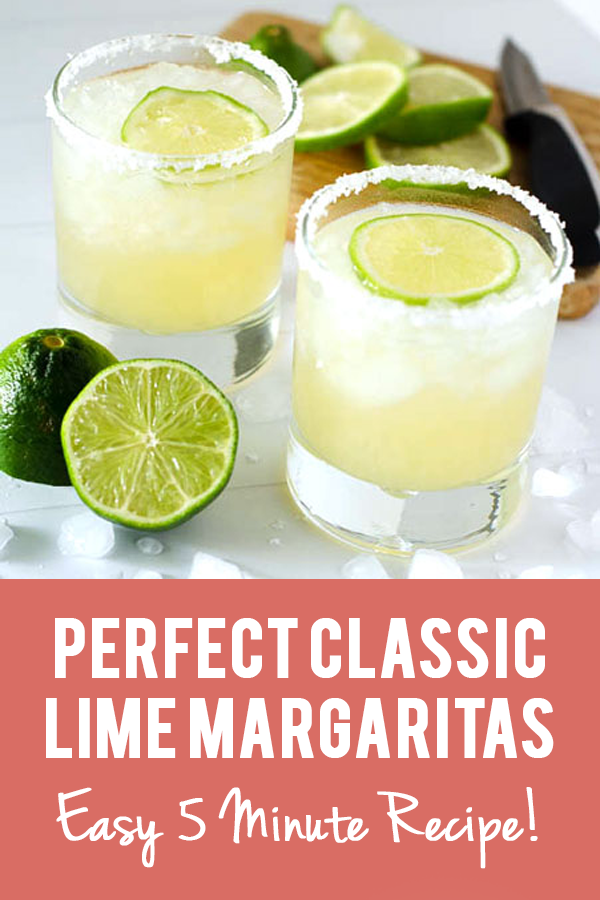 Perfect Classic Lime Margaritas | PaleoScaleo