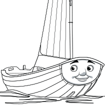 Skiff coloring page #thomasandfriends #coloringpages | Thomas ...