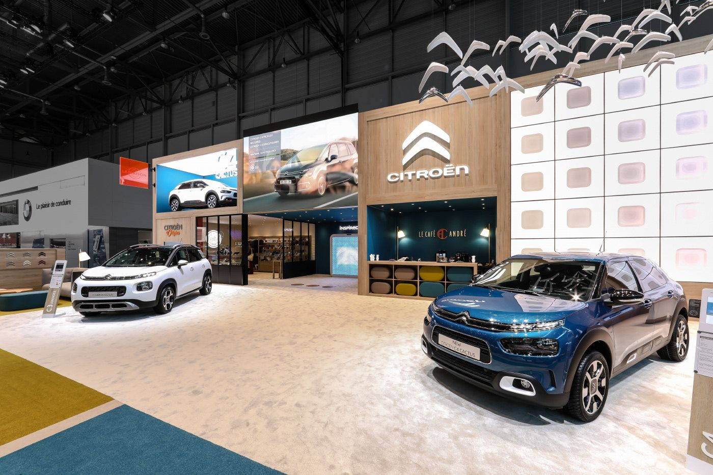 Citroen GIMS 2018 on Behance Exhibition, Booth design, Car