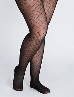 1fd76a8cdb9 Lattice fishnet control top tights. Lattice fishnet control top tights Plus  Size ...
