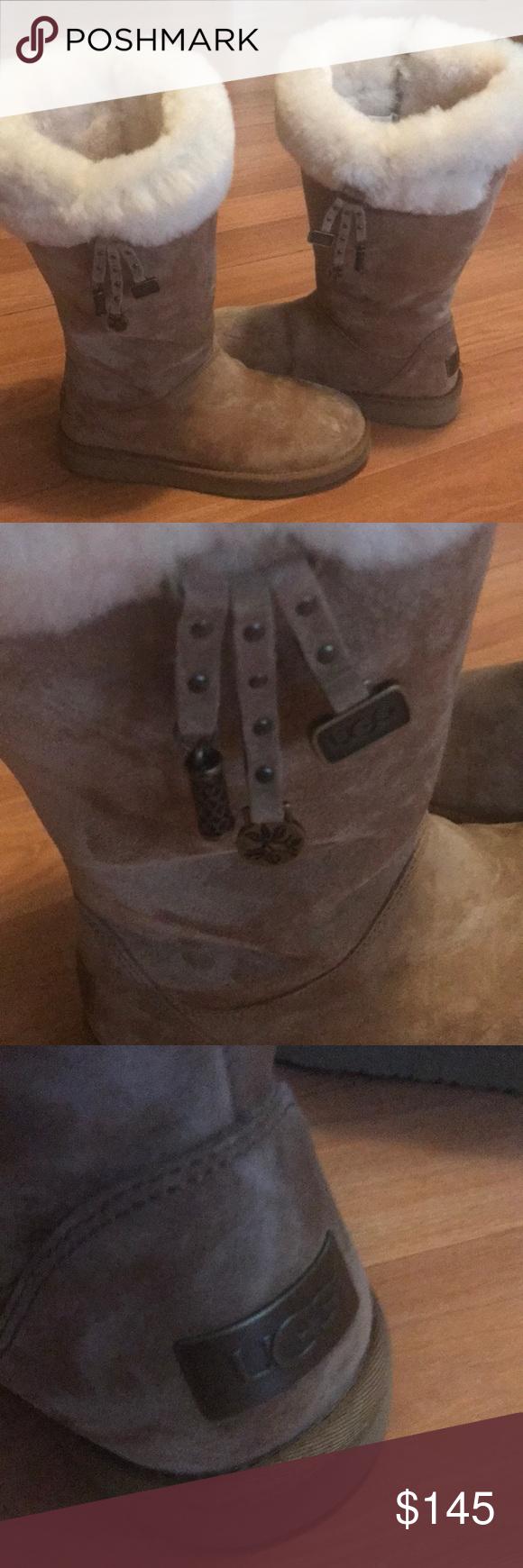 never been used ugg with plumdale charm boot ugg australia