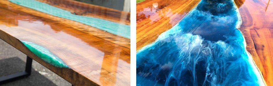 Epoxidharz Tisch Anleitung: Epoxy River Table selber herstellen
