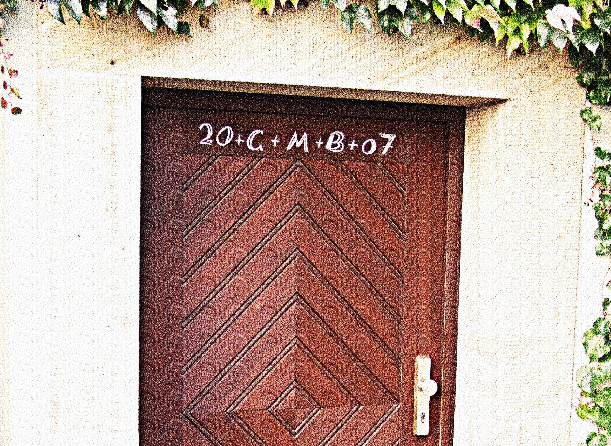 An Epiphany and  Twelfth Night  tradition is to mark the doorway of the home & An Epiphany and