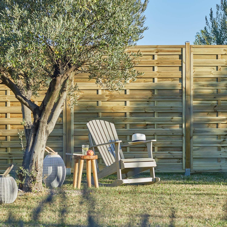 Panneau Bois Occultant Anna L 180 X H 200 Cm Naturel Panneau