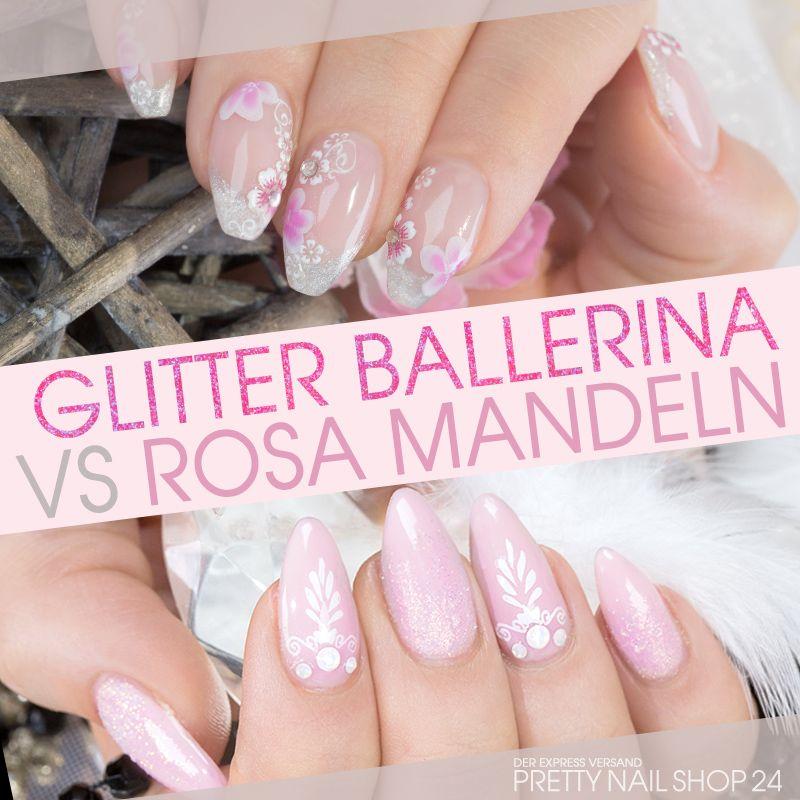 rosa ballerina glitter mandel nails rosa mandeln oder glitzernde ballerina n gel welche. Black Bedroom Furniture Sets. Home Design Ideas