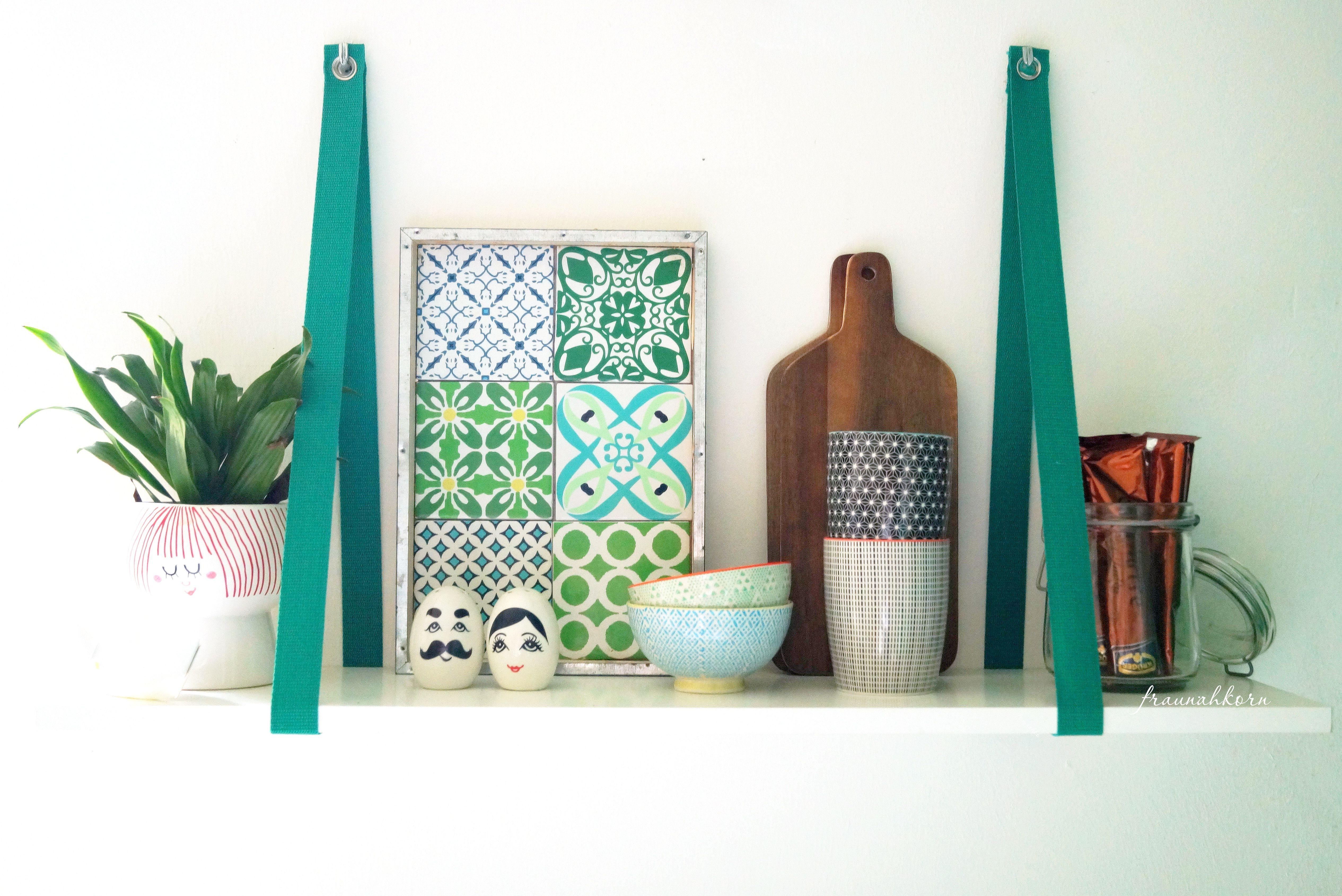 DIY-Küchenregal: Die Küche mit einem selbstgebautem regal ...