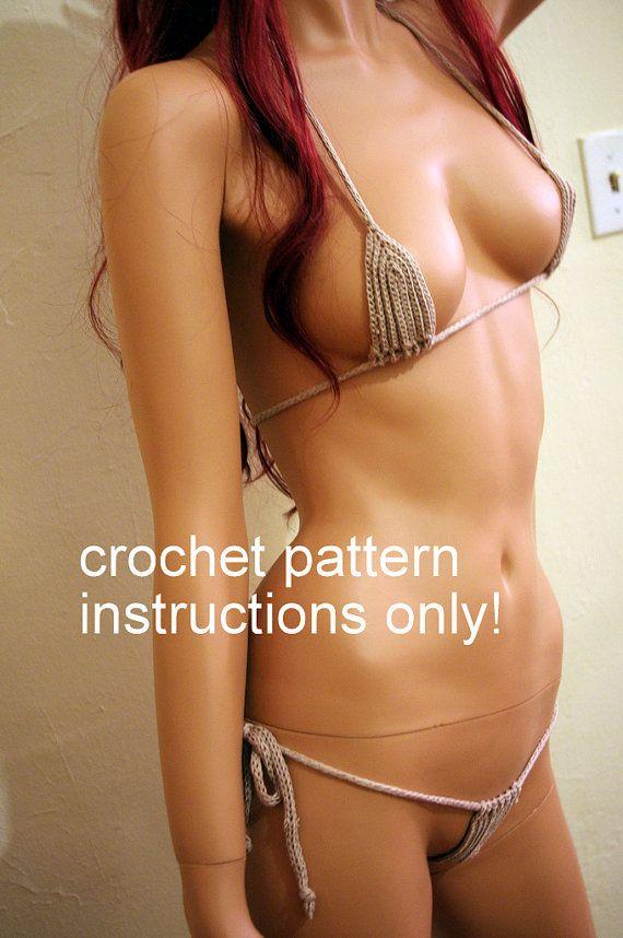 crochet pattern instructions for Micro Bikini Thong by BikiniSandi, $3.00