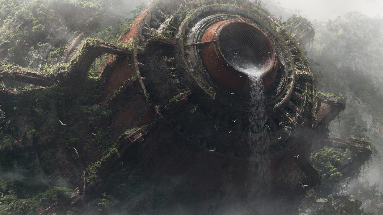 Spaceship wreckage