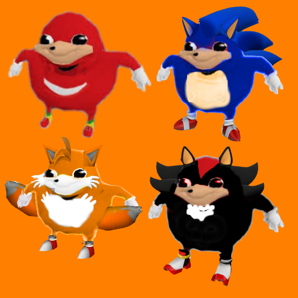 Ugandan Knuckles Sonic Tails And Shadow Ugandan Knuckles Sonic Funny Sanic Memes Sonic