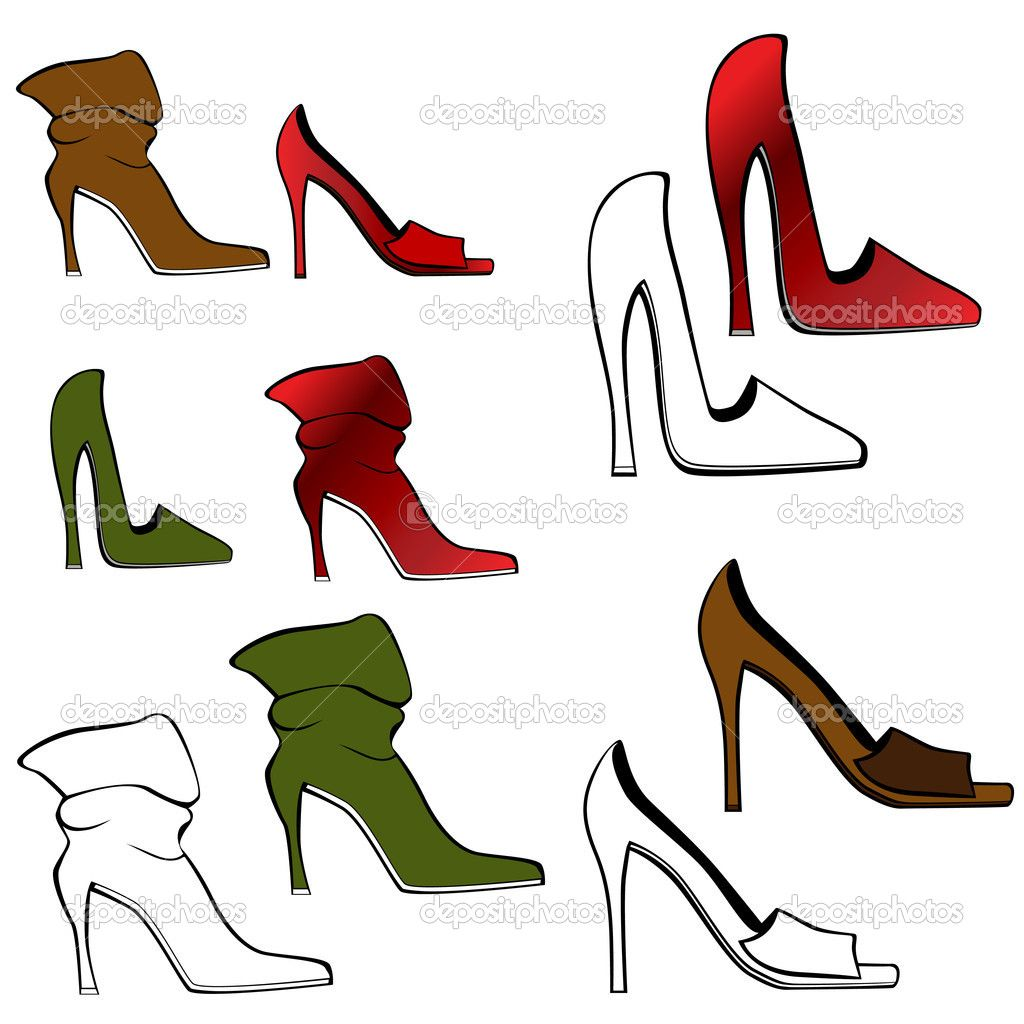 Cartoon High Heel Shoe Clipart Free Clip Art Images Shoe Art